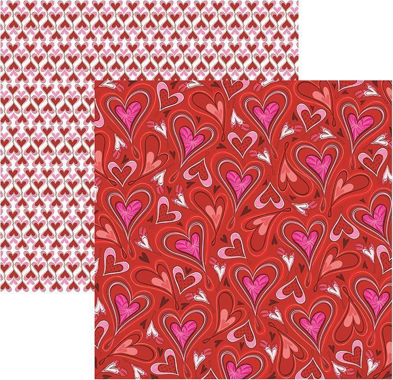 Papel Scrap Amor Puro Corações Toke e Crie - 16083 - SDF501