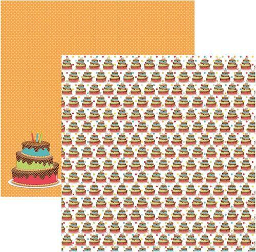 Papel Scrap Aniversario Bolinhos Toke e Crie - 15806 - SDF484