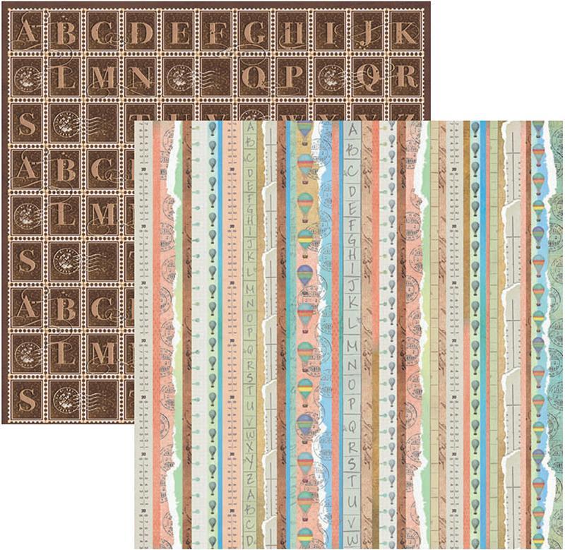 Papel Scrap Antigamente Barrinhas Toke e Crie - 14625 - SDF398
