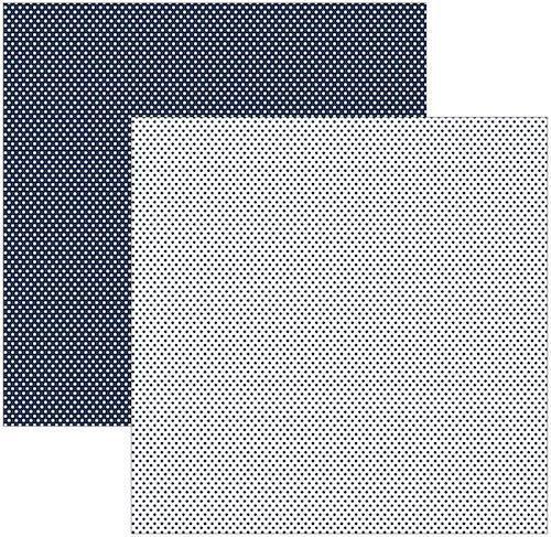 Papel Scrap Azul Marinho Poá Pequeno Toke e Crie - 11021 - KFSB138