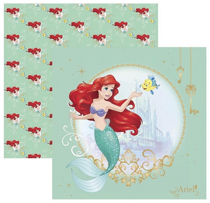 Papel Scrap Disney Ariel 1 Guirlanda Toke e Crie - 19566 - SDFD81