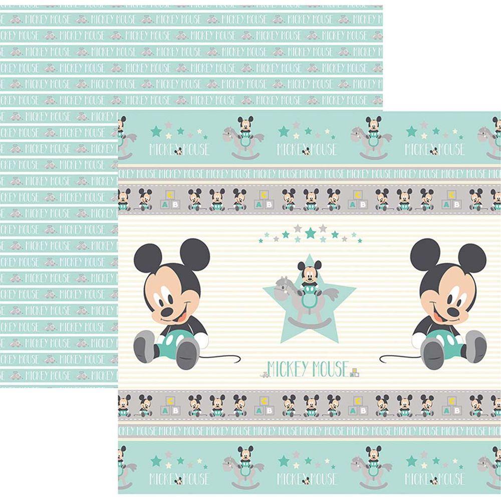 Papel Scrap Disney Baby Mickey 1 Fitas e Rotulos Toke e Crie - 19327 - SDFD033