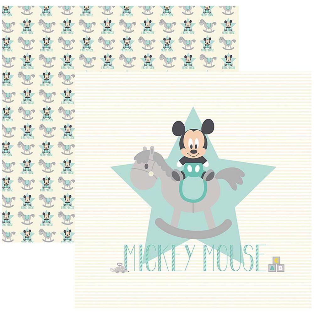 Papel Scrap Disney Baby Mickey 1 Guirlanda Toke e Crie - 19325 - SDFD031
