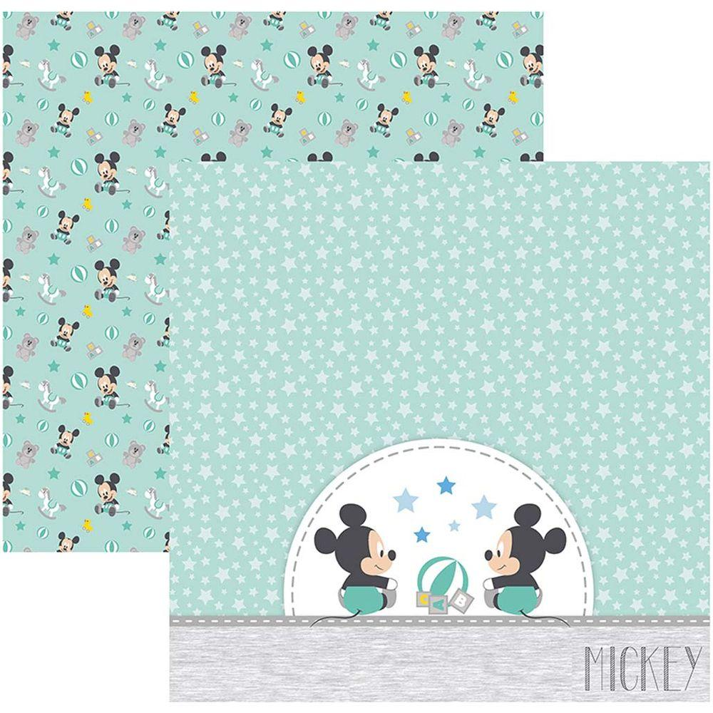 Papel Scrap Disney Baby Mickey 2 Brinquedos Toke e Crie - 19333 - SDFD038