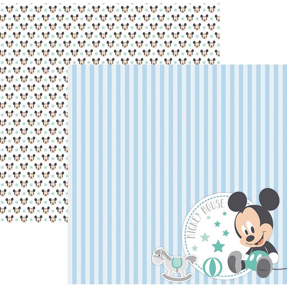 Papel Scrap Disney Baby Mickey 2 Paisagem Toke e Crie - 19331 - SDFD037