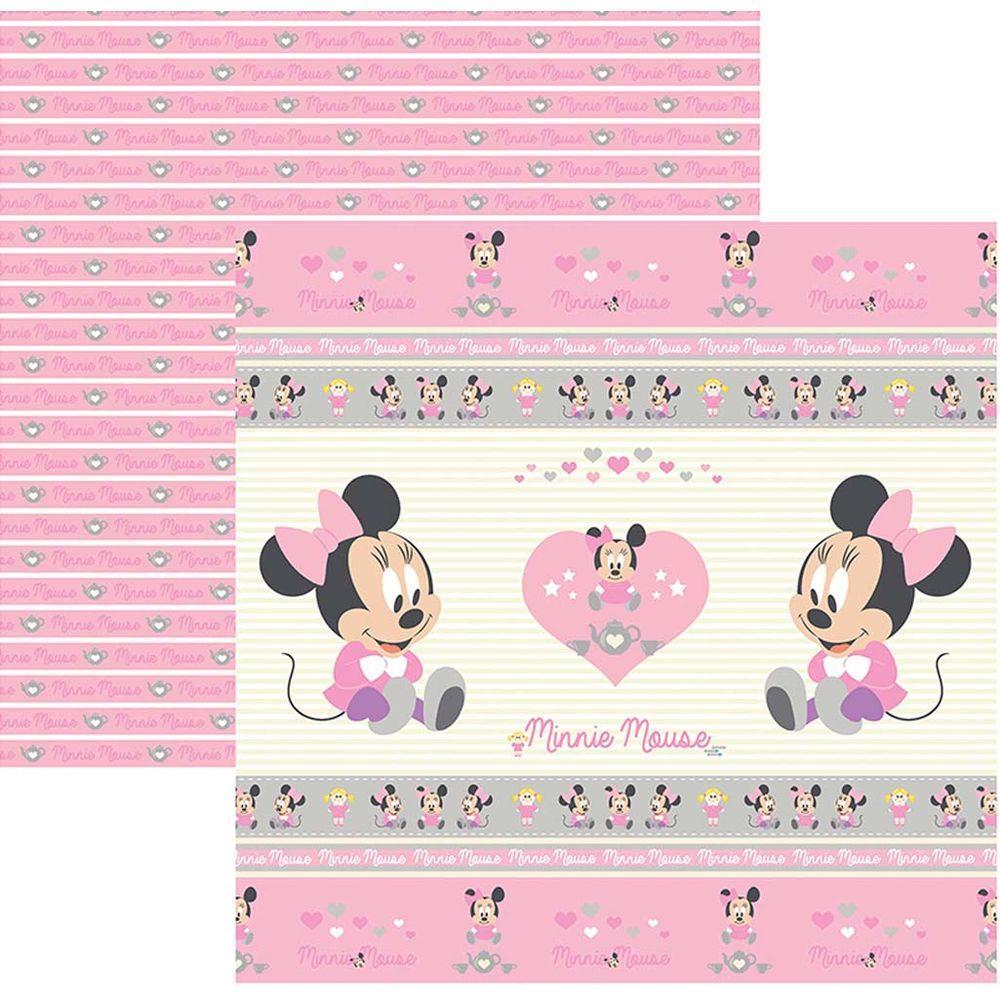 Papel Scrap Disney Baby Minnie 1 Fitas e Rotulos Toke e Crie - 19317 - SDFD023