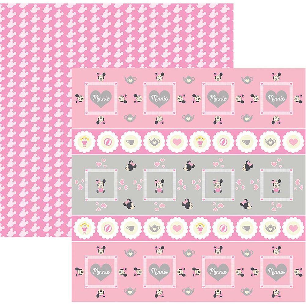 Papel Scrap Disney Baby Minnie 1 Forminhas e Toppers Toke e Crie - 19318 - SDFD024