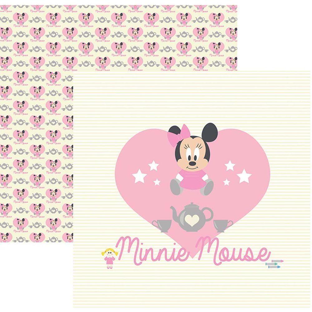 Papel Scrap Disney Baby Minnie 1 Guirlanda Toke e Crie - 19315 - SDFD021