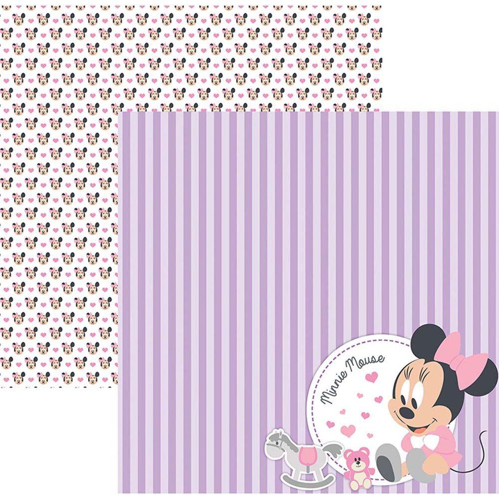 Papel Scrap Disney Baby Minnie 2 Paissagem Toke e Crie - 19321 - SDFD027
