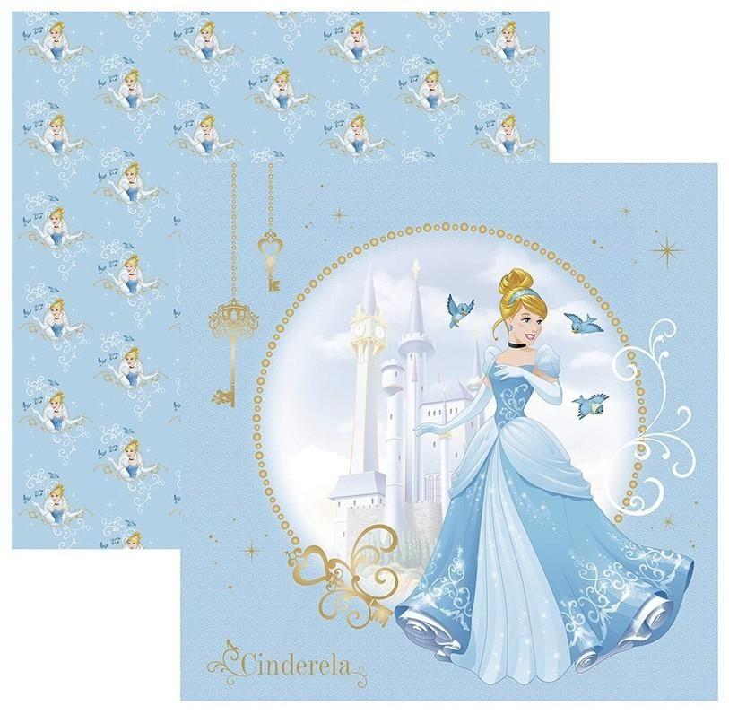 Papel Scrap Disney Cinderela 1 Guirlanda Toke e Crie - 19554 - SDFD69