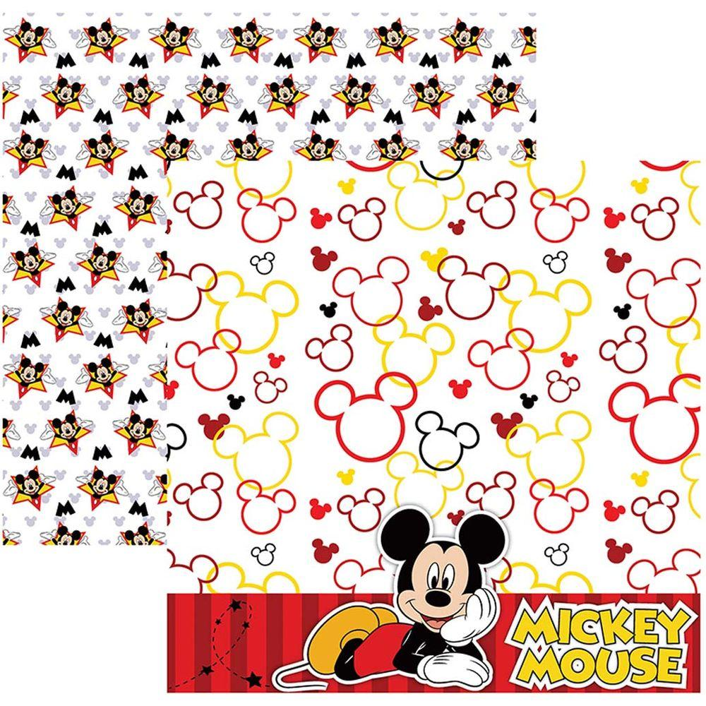 Papel Scrap Disney Mickey Mouse 2 Paisagem Toke e Crie - 19311 - SDFD017