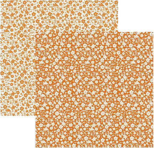 Papel Scrap Floral Laranja Toke e Crie - 15858 - KFSB320