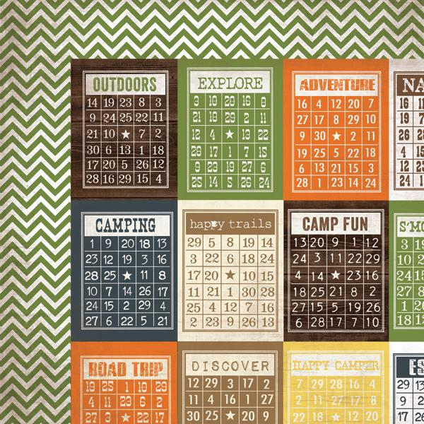 Papel Scrap Importado Bingo Cards/Chevron - 2521