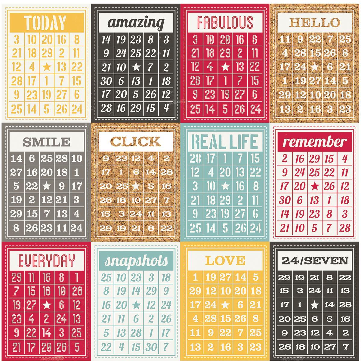 Papel Scrap Importado Bingo Cards/Stripe - 3116
