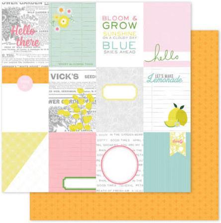 Papel Scrap Importado Citrus Bliss - Hello - 370641