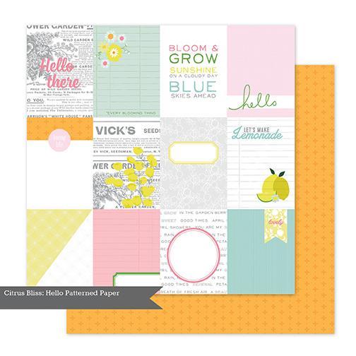 Papel Scrap Importado Citrus Bliss - Sour - 370646