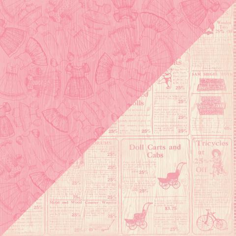 Papel Scrap Importado Darling Girl Three - DAG003