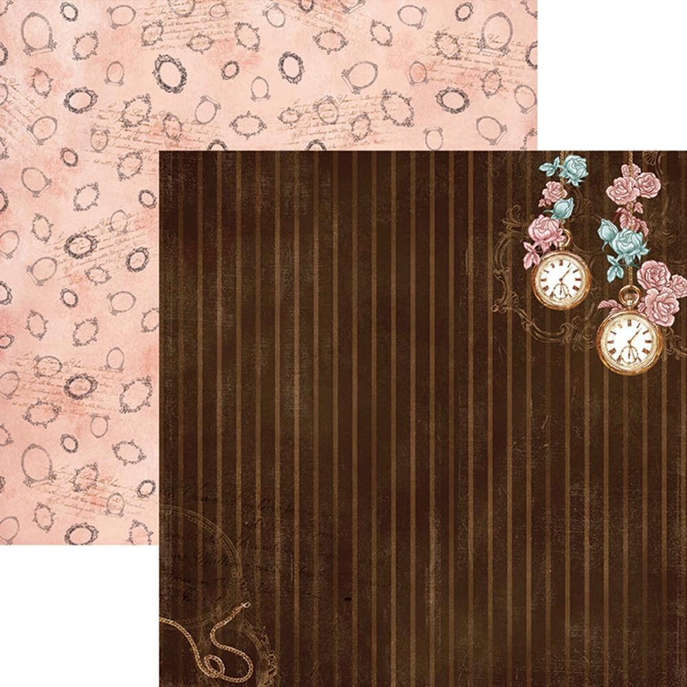 Papel Scrap Lembranças e Rosas FD Listrado Toke e Crie - 19360 - SDF675
