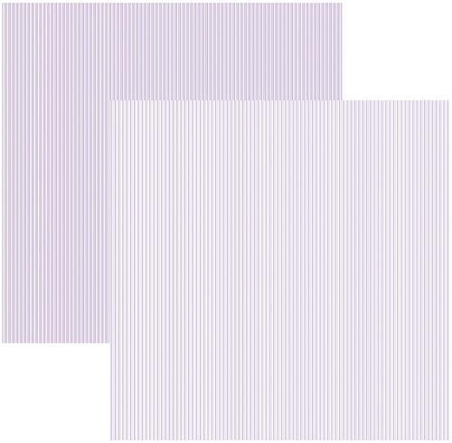 Papel Scrap Lilás FB Listras Toke e Crie - 15085 - KFSB296