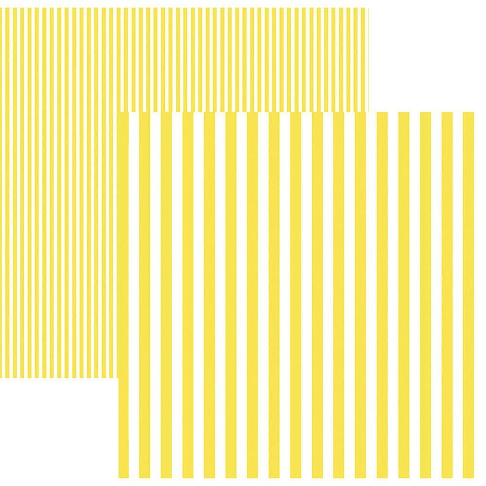 Papel Scrap Listras Amarelo by Mariceli Toke e Crie - 19970 - KFSB429