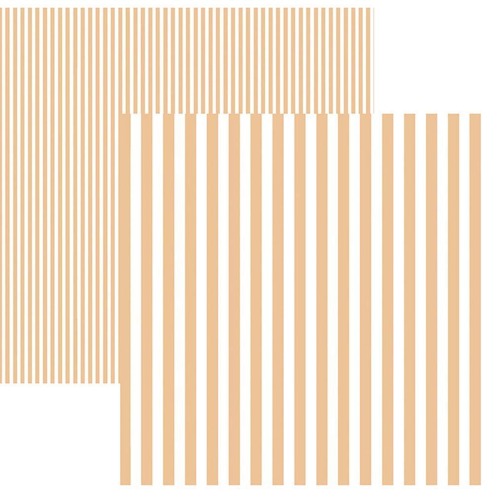 Papel Scrap Listras Coral by Mariceli Toke e Crie - 19984 - KFSB443