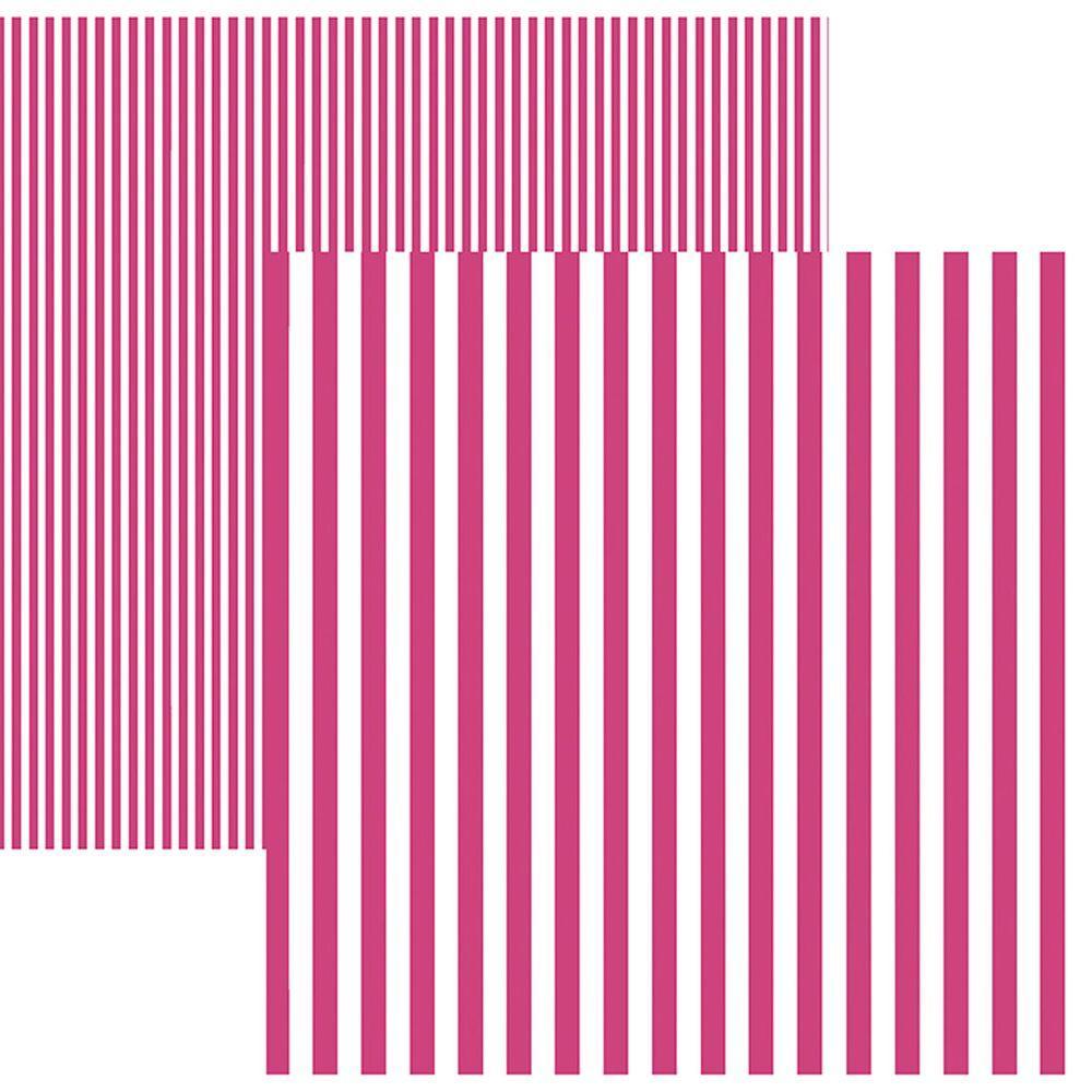 Papel Scrap Listras Rosa by Mariceli Toke e Crie - 19978 - KFSB437