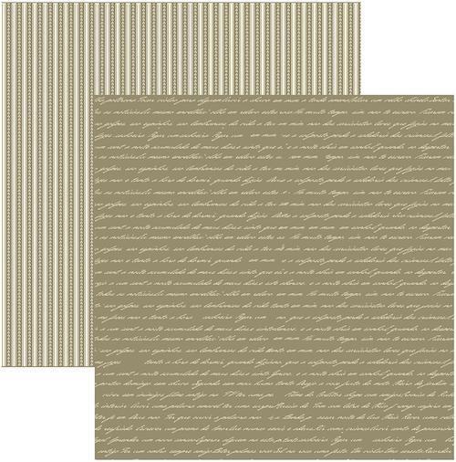 Papel Scrap Manuscrito Fendi Toke e Crie - 14030 - KFSB275