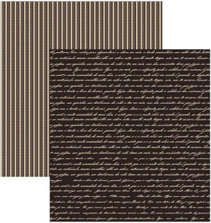 Papel Scrap Manuscrito Preto Toke e Crie - 15722 - KFSB311