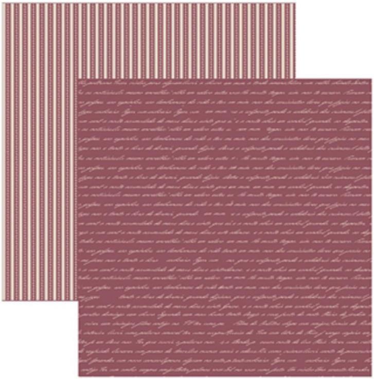 Papel Scrap Manuscrito Vinho Toke e Crie - 14025 - KFSB270
