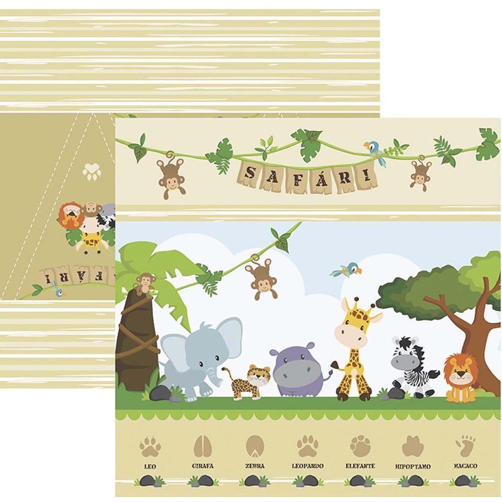 Papel Scrap Meu Safari Cenários e Bandeirolas by Mariceli Toke e Crie - 20235 - SDF754