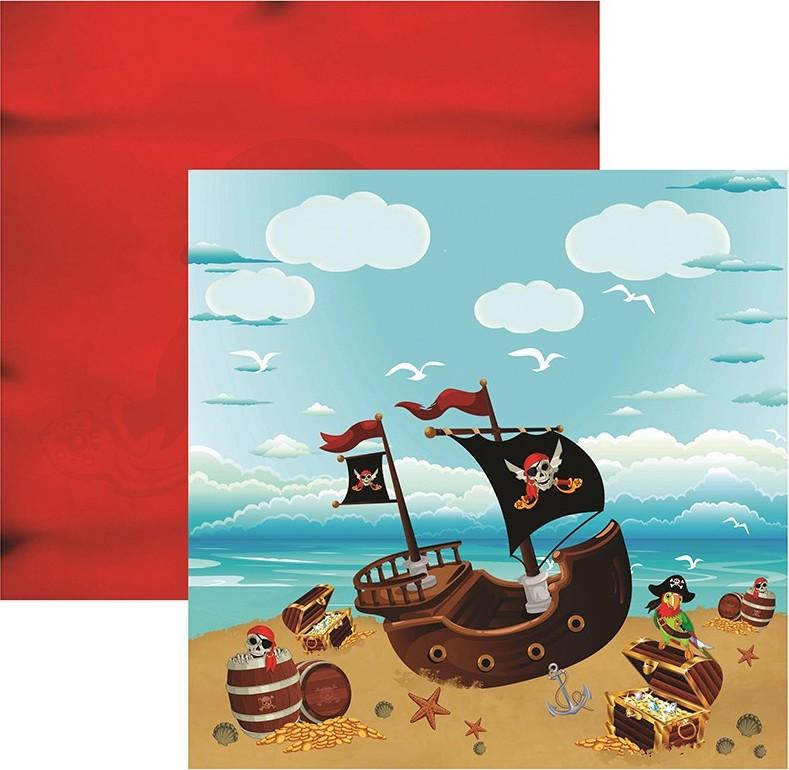 Papel Scrap Piratas Paisagem Toke e Crie - 16196 - SDF514
