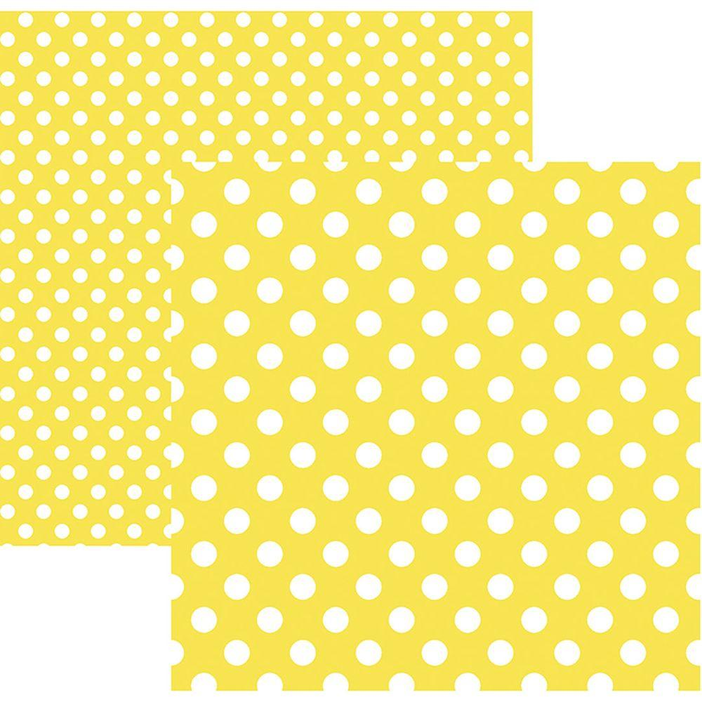 Papel Scrap Poá Grande Amarelo by Mariceli Toke e Crie - 20010 - KFSB469