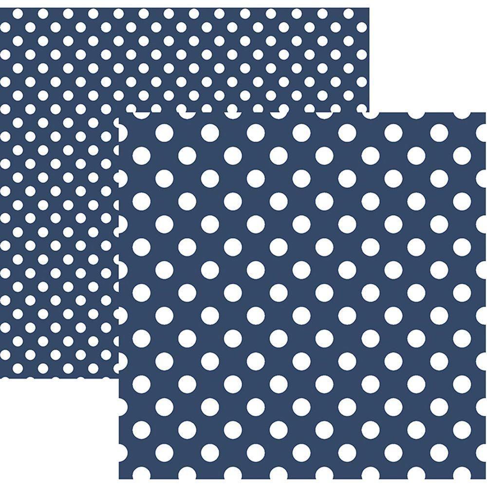 Papel Scrap Poá Grande Azul Marinho by Mariceli Toke e Crie - 20013 - KFSB472