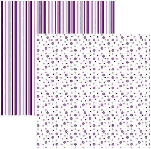 Papel Scrap Poá Listras Grande Lilás Toke e Crie - 17056 - KFSB378