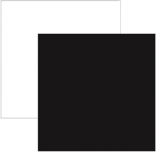 Papel Scrap Preto e Branco Toke e Crie - 8534 - KFSB01