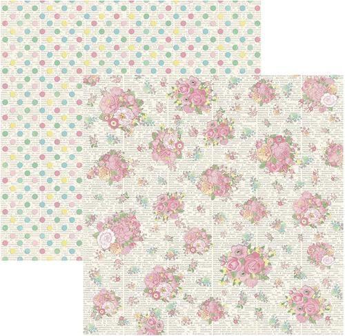 Papel Scrap Primavera Marshmallow Buquês Toke e Crie - 17439 - SDF567