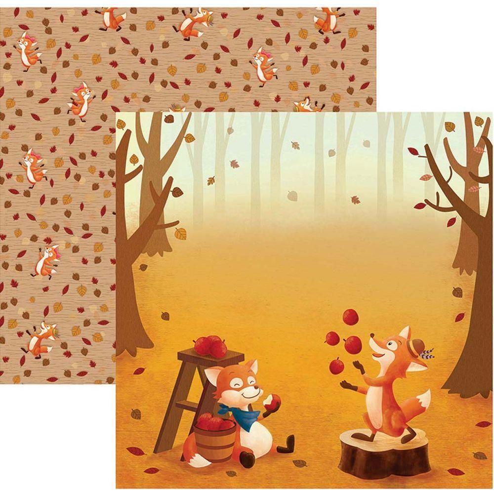 Papel Scrap Raposas do Outono Bosque Toke e Crie - 19368 - SDF683