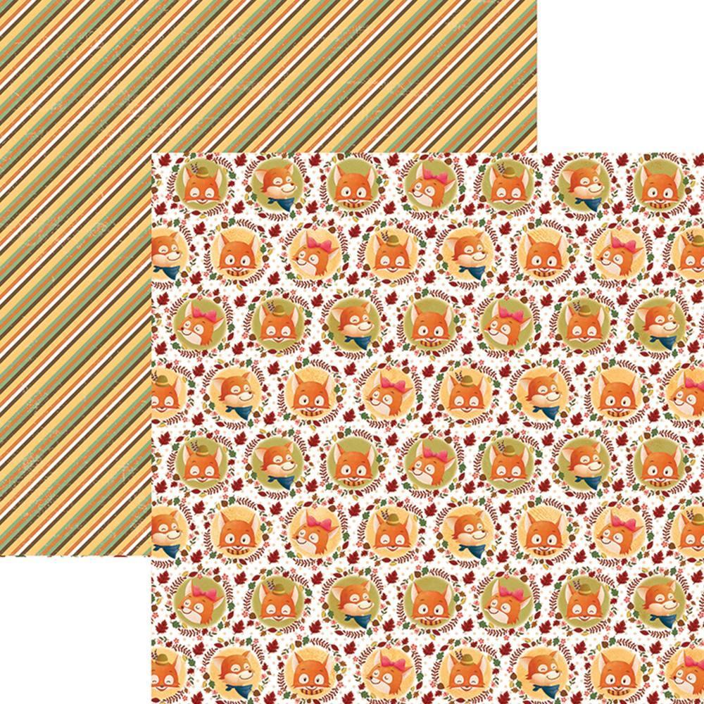Papel Scrap Raposas do Outono Selos Toke e Crie - 19370 - SDF685