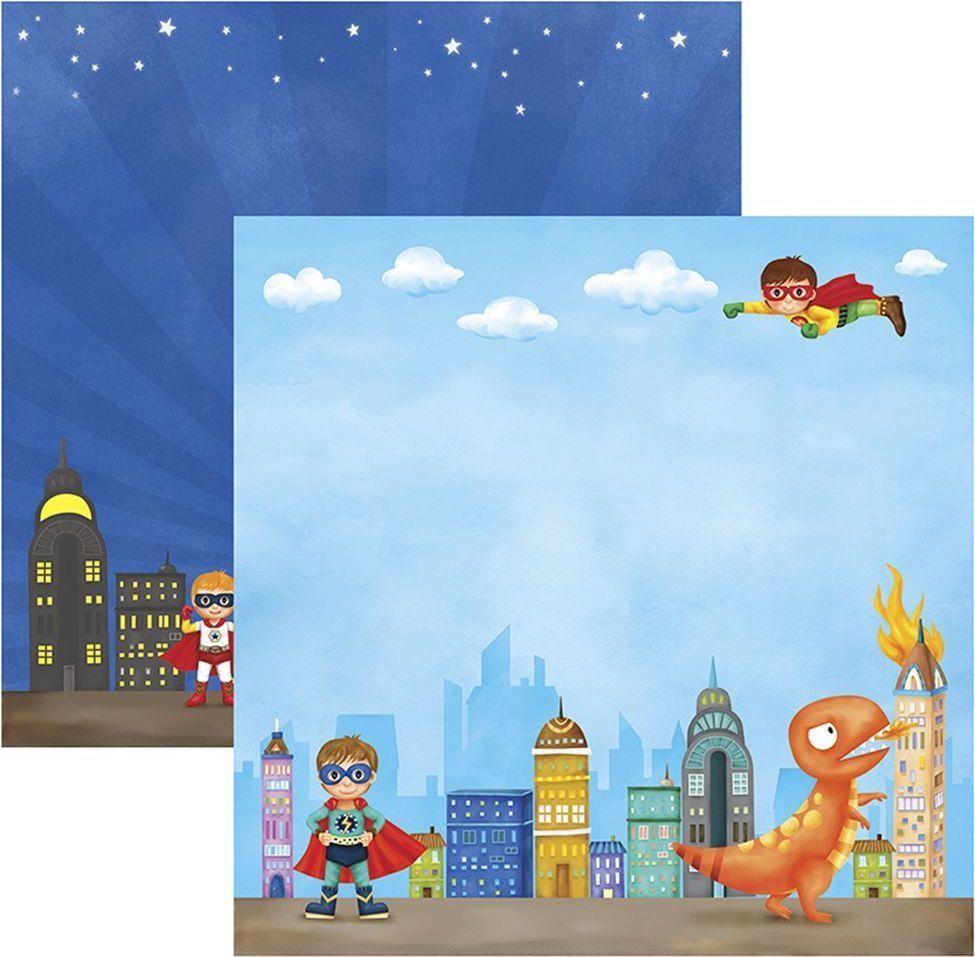 Papel Scrap Super Herois Dragão Toke e Crie - 17254 - SDF554