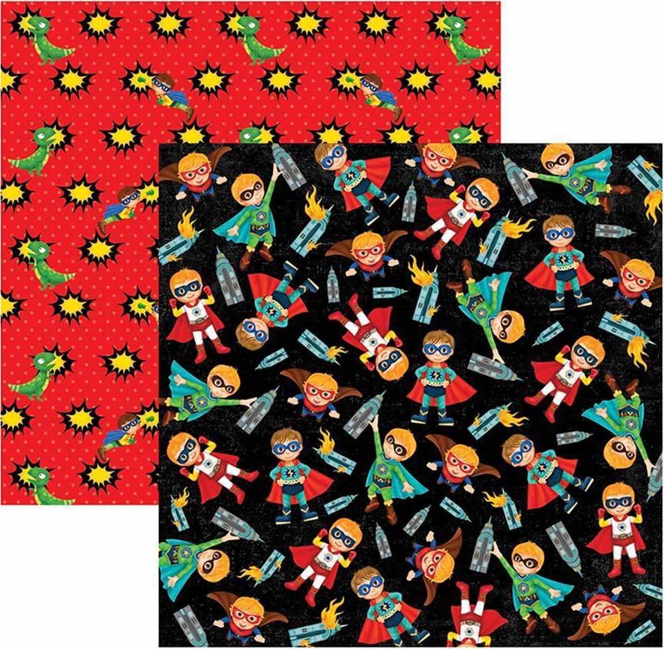 Papel Scrap Super Herois Meninos Toke e Crie - 17255 - SDF555