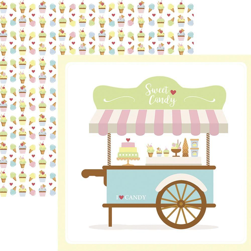 Papel Scrap Sweet Candy Guirlanda Toke e Crie - 17990 - SDF657