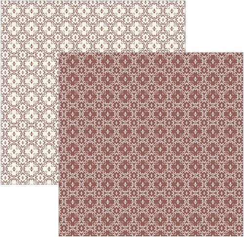 Papel Scrap Texturizado Marrom Nobre Toke e Crie - 16416 - KSBC012