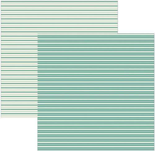 Papel Scrap Texturizado Verde Listras Toke e Crie - 16411 - KSBC007