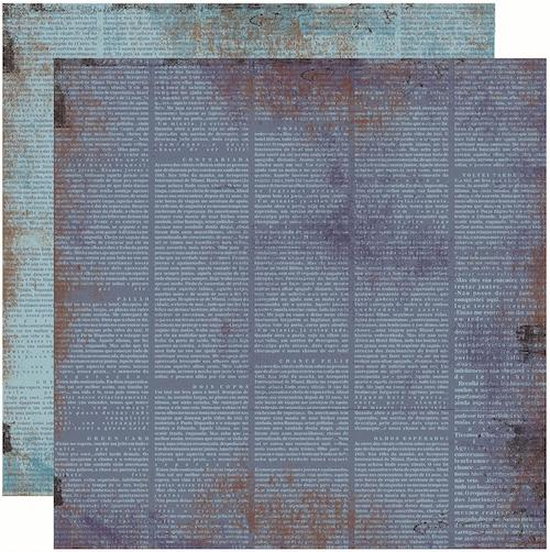 Papel Scrap Vintage Azul Jornal Toke e Crie - 13238 - KFSB205