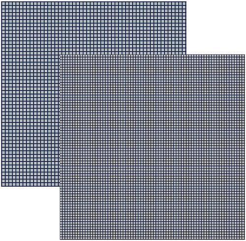 Papel Scrap Xadrez Duplo Azul Marinho Toke e Crie - 15106 - KFSB304