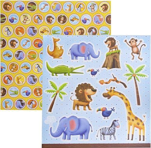 Papel Scrap Zoológico Botons Toke e Crie - 12052 - SDF245