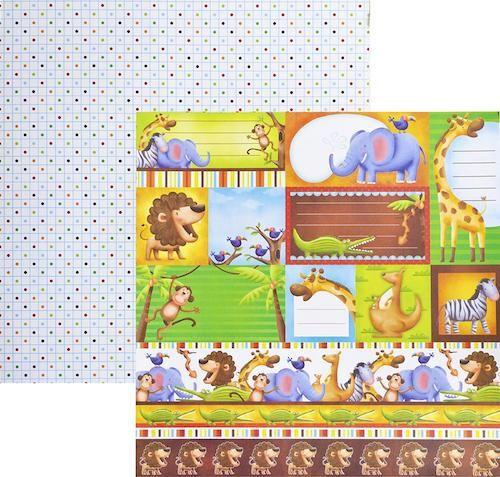 Papel Scrap Zoológico Tags Toke e Crie - 12053 - SDF246