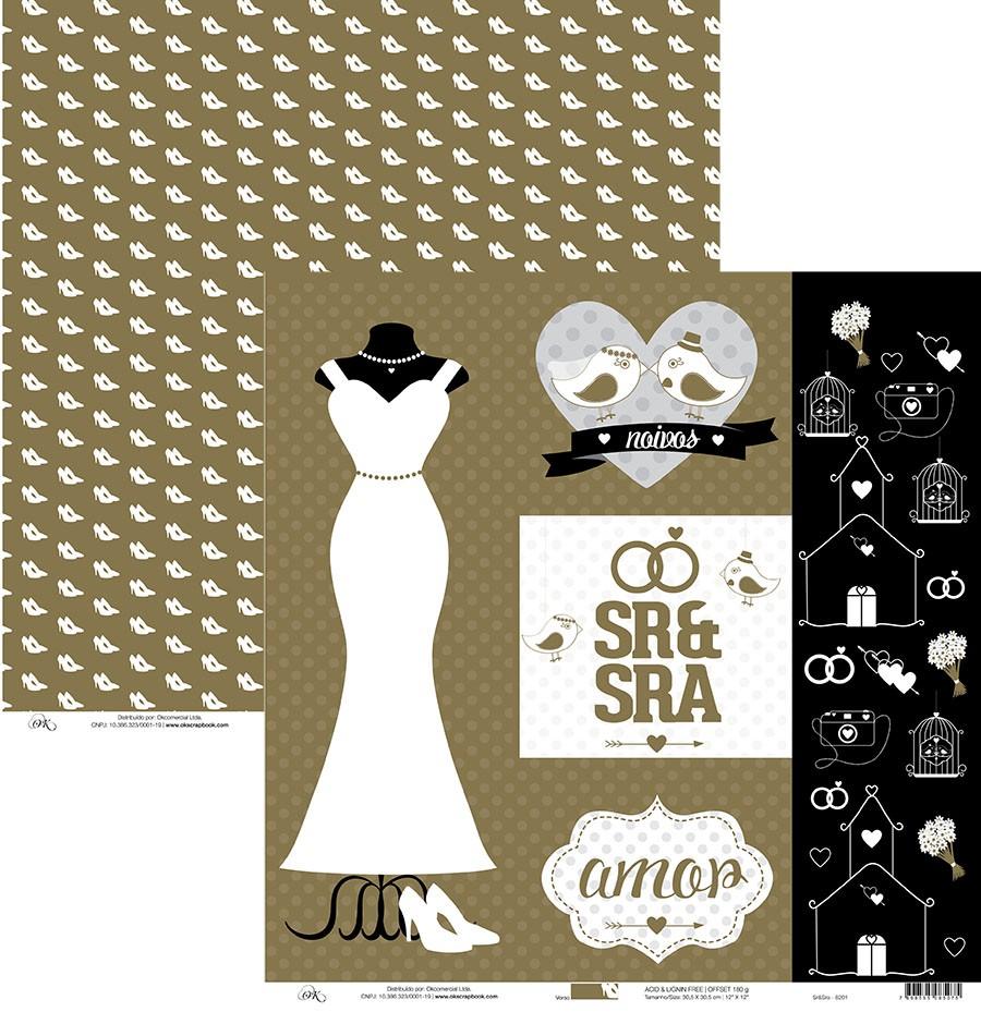 Papel Sr & Sra Okscrapbook - 8201