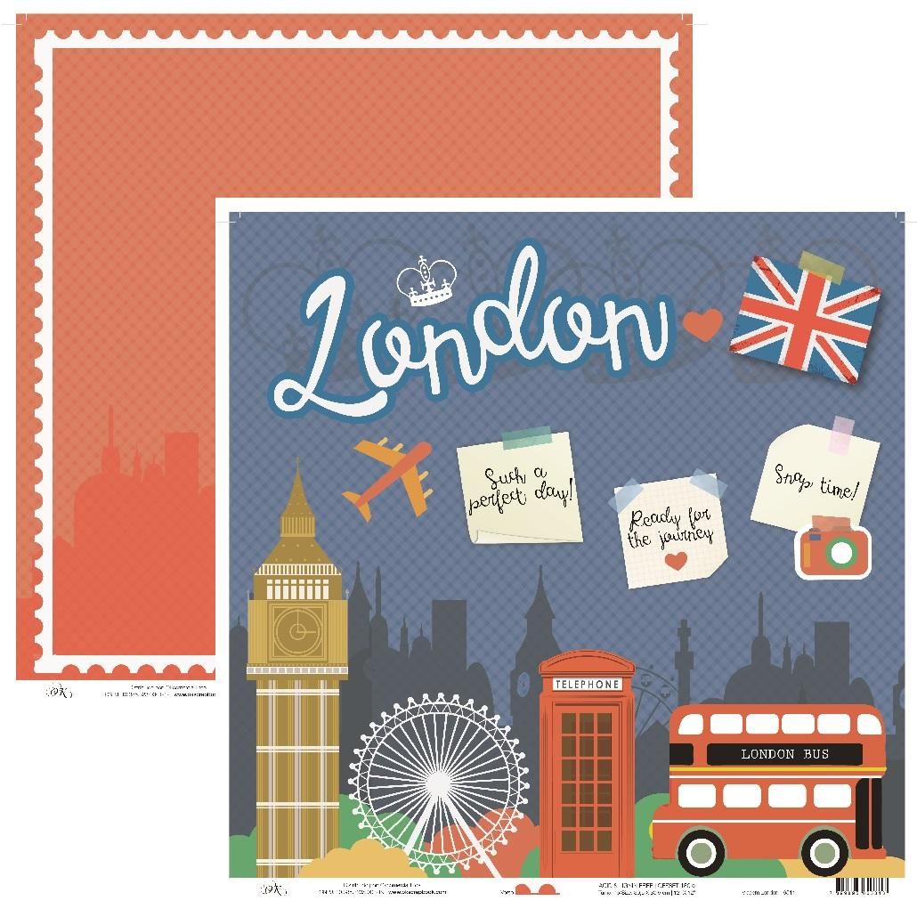Papel Viagem London Okscrapbook - 9511
