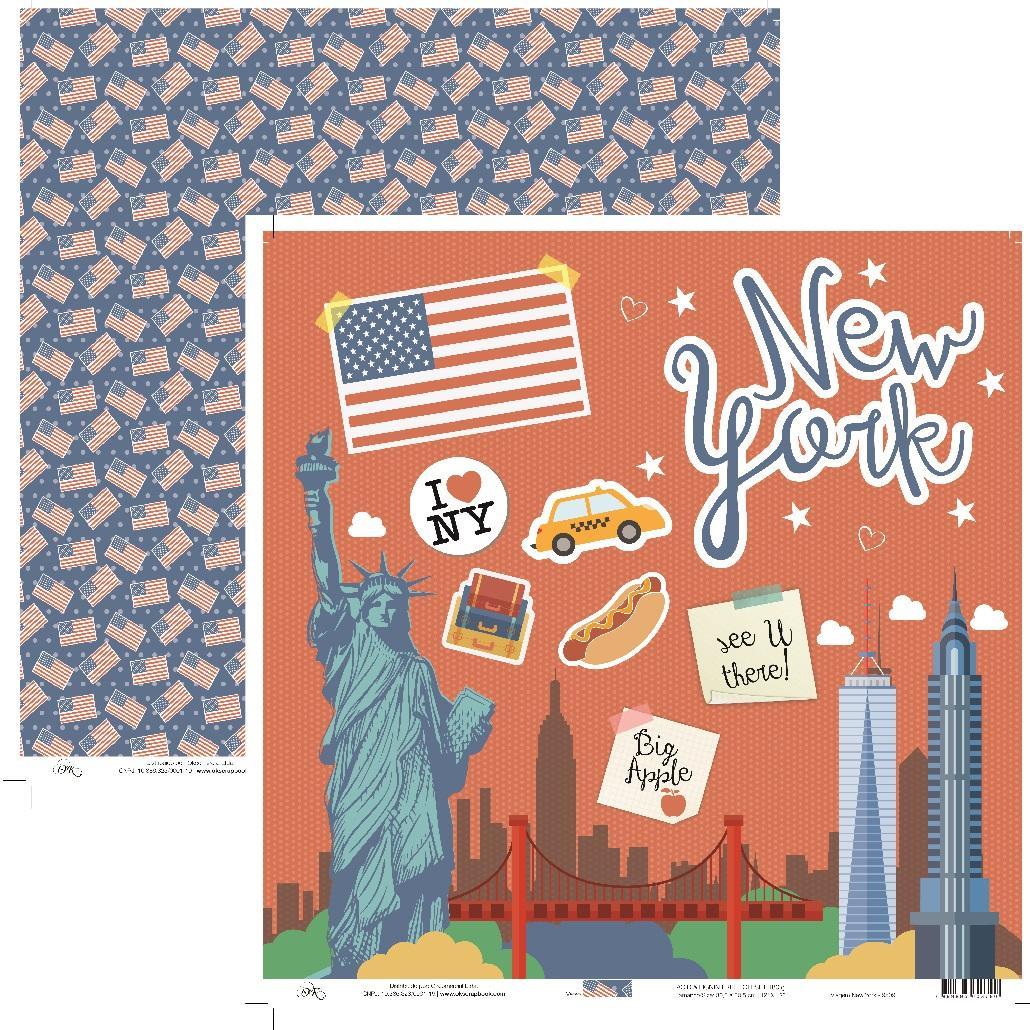 Papel Viagem New York Okscrapbook - 9509
